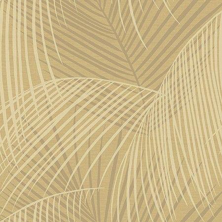 Behang Exotic Deco in goud/zilver/crème. Verkrijgbaar bij artdecowebwinkel.com. - Wallpaper Exotic Deco in gold/silver/creme. Available at artdecowebstore.com.
