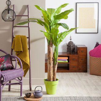 Arbre bananier artificiel en pot 2 troncs tropik haveli for Bonsai artificiel ikea