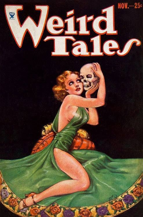 Weird Tales Margaret Brundage (1933) | Weird fiction, Pulp fiction art,  Pulp magazine