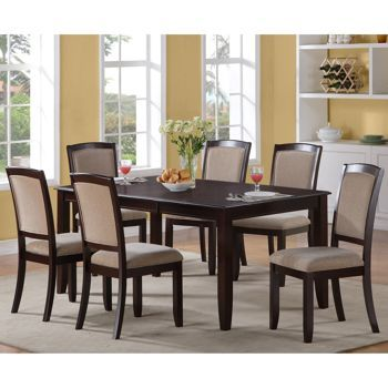 Costco Bellini 7 Pc Dining Set Dining Room Sets Fabric Dining Room Rectangular Dining Table