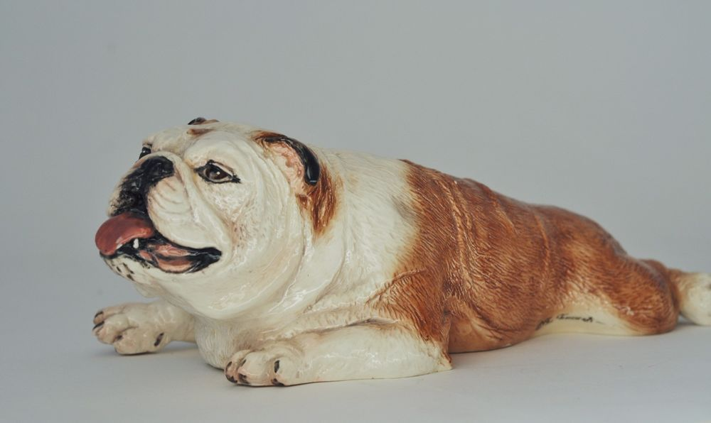 Vintage The Townsends Ceramic Bulldog Figurine Rare Townsends Dog