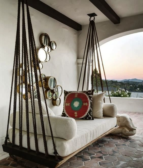 7 diy outdoor swings thatll make warm nights even better 6 is just stunning - Sillones Colgantes