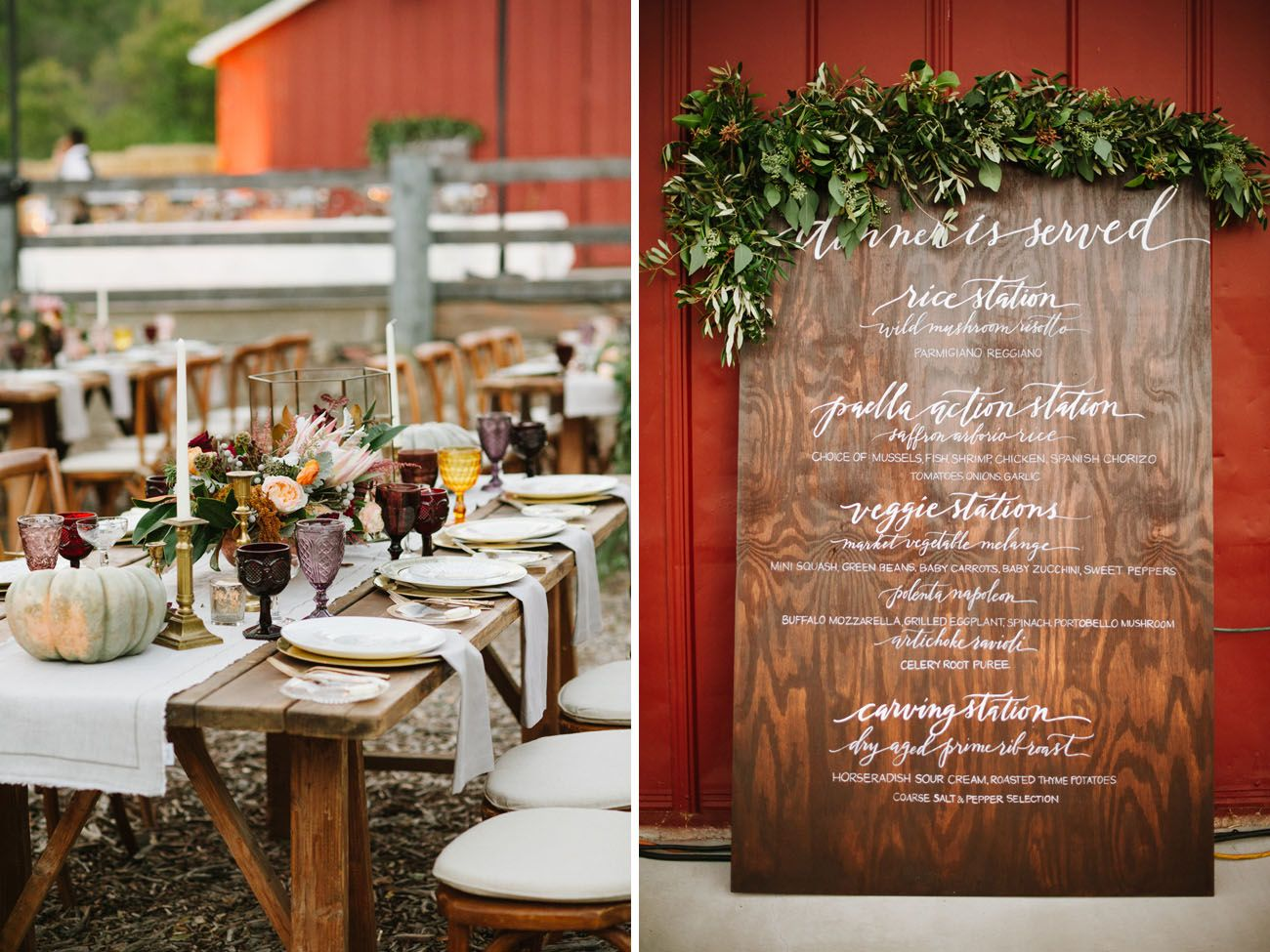Elegant fall diy wedding in ojai caitlin colin menu diy