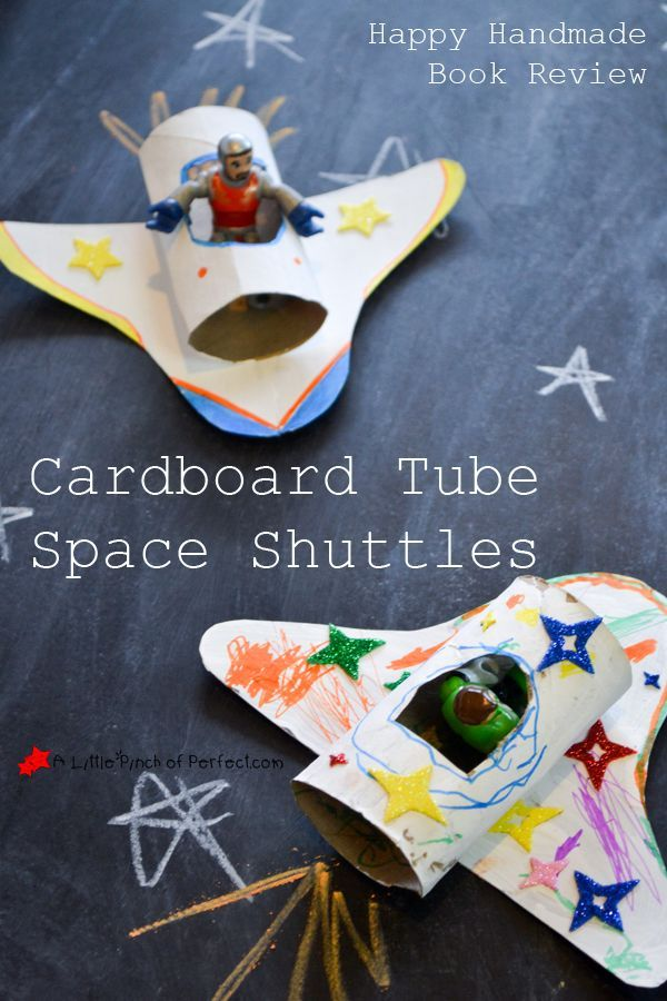 Todays Cardboard Tube Space Shuttle Craft Comes Straight Out Of The Happy Handmade Book That I Received For Free From My Friend Leslie Pink Stripey