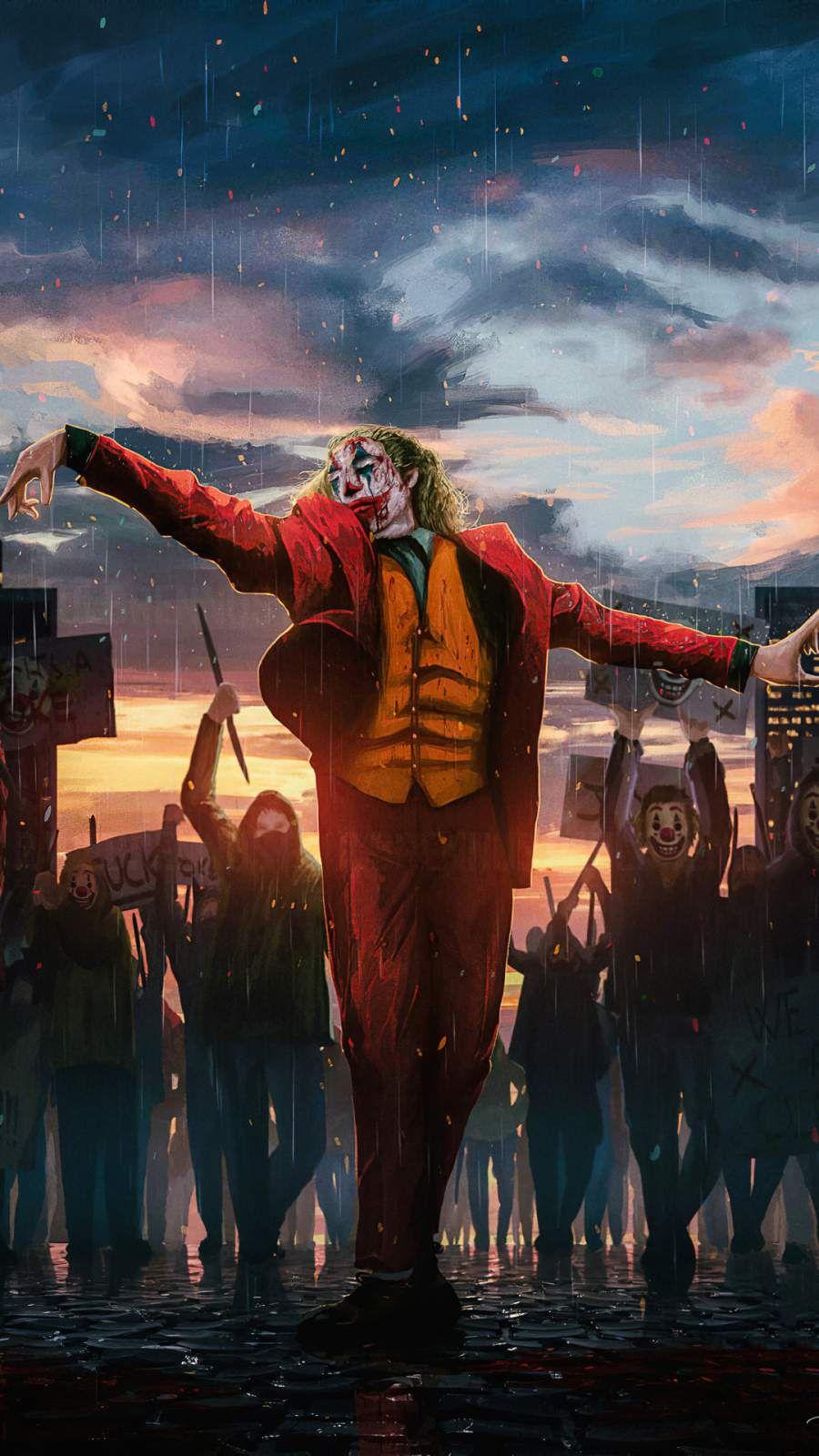 Joker Happy Clowns Iphone Wallpaper Arlequina E Coringa Desenho