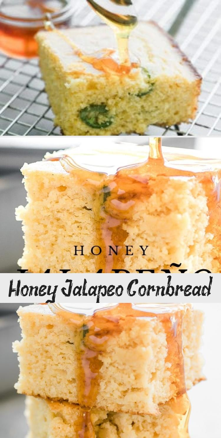Honey Jalapeno Cornbread Recipe Is A Moist Southern Style Buttermilk Cornbread With A Hint Of Sweet Honey In 2020 Corn Bread Recipe Easy Baking Recipes Sweet Cornbread