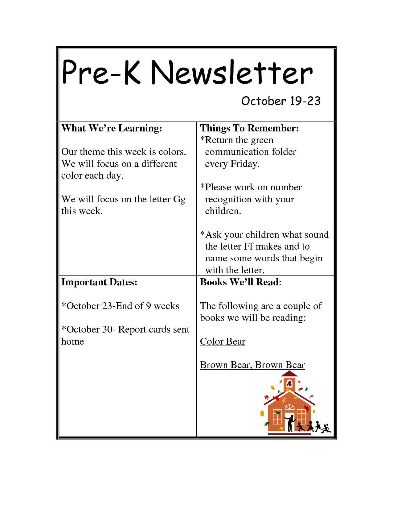Pre k newsletter templates pre k newsletter teacher parent pre k newsletter templates pre k newsletter spiritdancerdesigns Choice Image