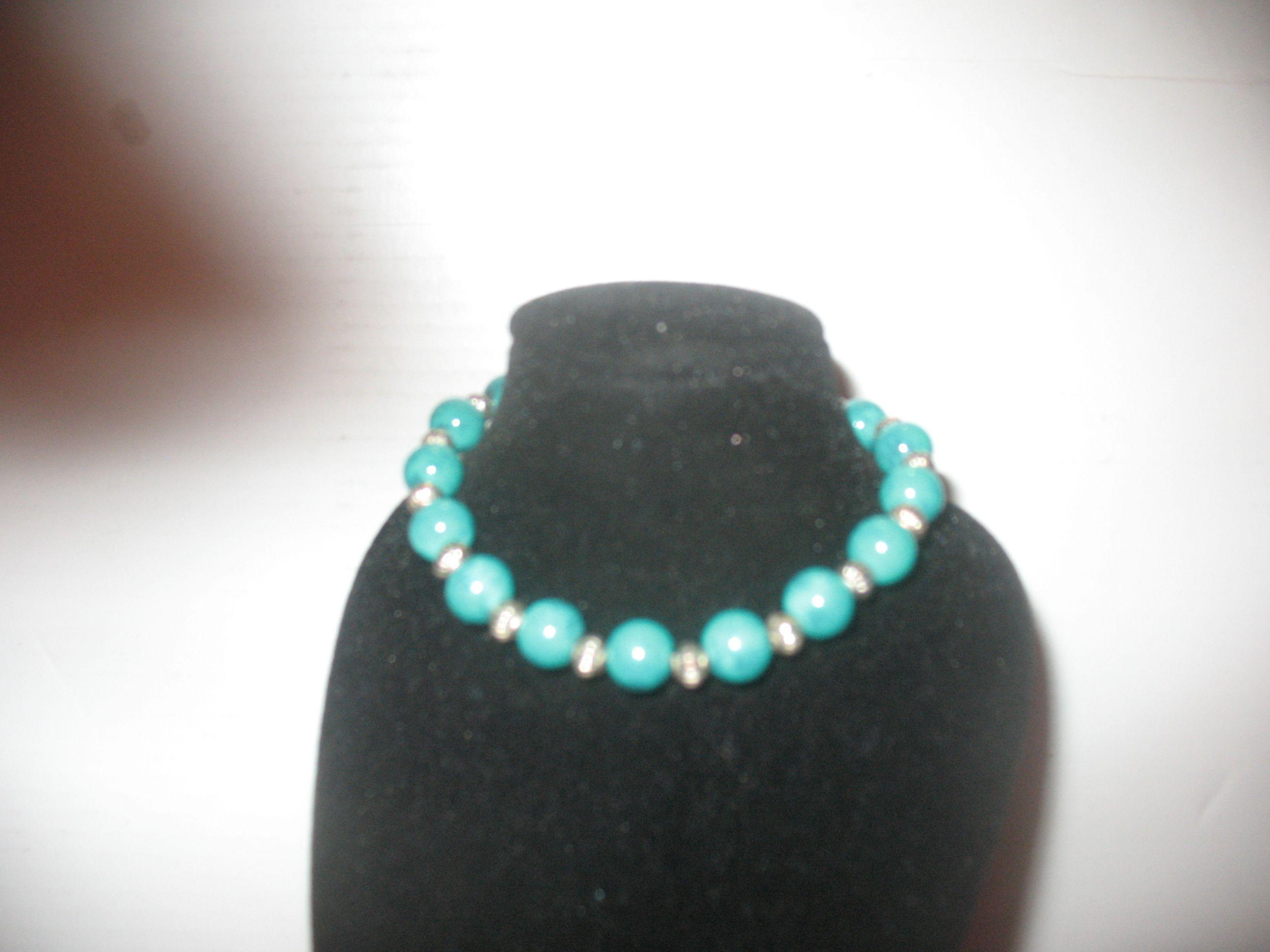green bead bracelet 3