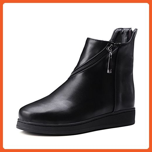 Women's Soft Material Round Closed Toe Solid Low top Low-Heels Boots