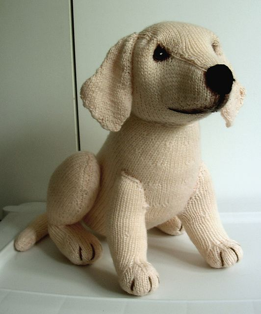 Knitted Labrador Pattern Knitting Animals Toys Pinterest