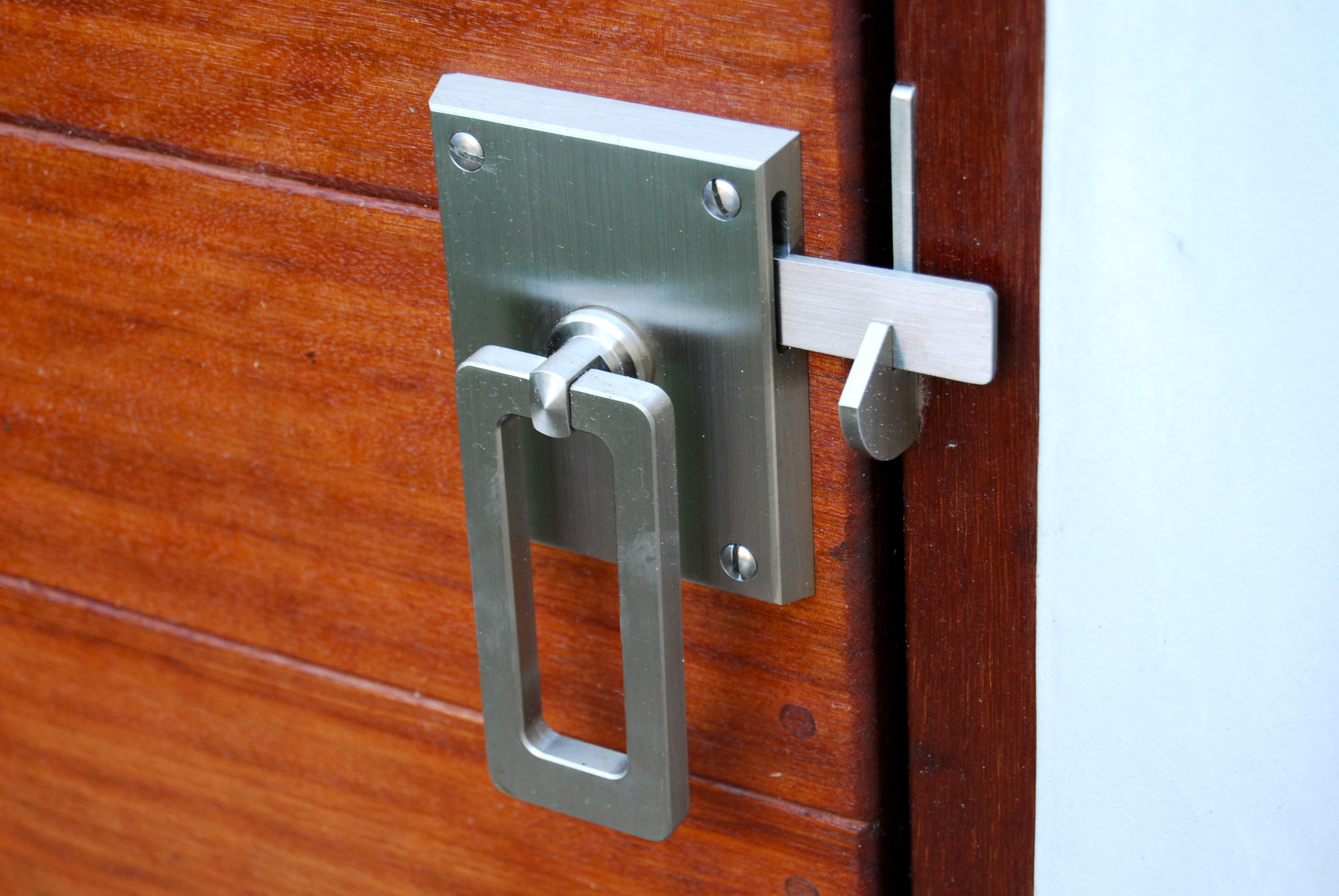 Elise Stainless Steel Contemporary Modern Gate Latch Ring Latch Gate Latch Gate Hardware Modern Gate