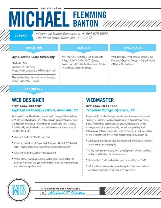 resume design layout inspiration precise to the point easy to read leads - Loft Resumes Free