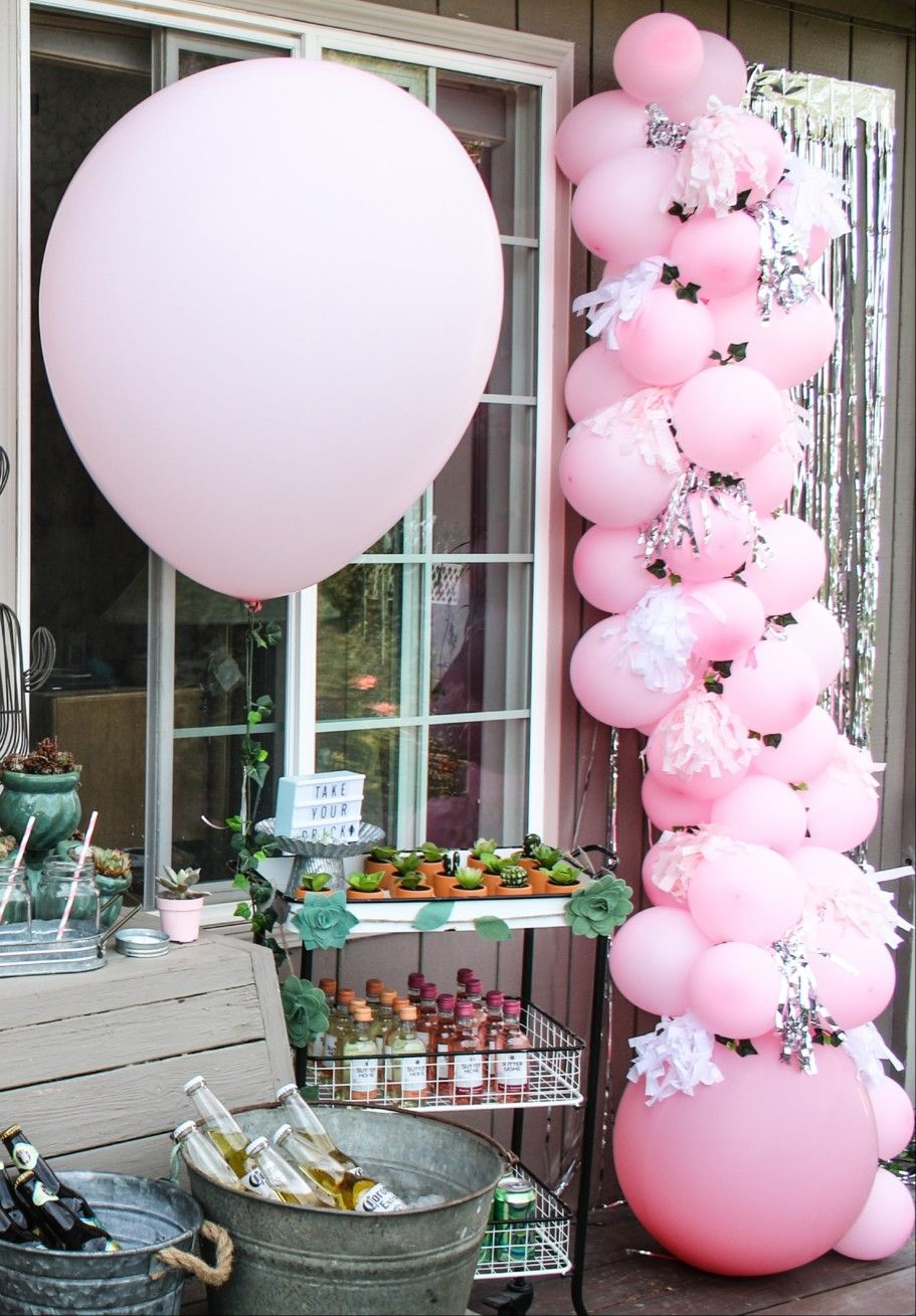 Pink balloon garland (With images) 60th birthday party