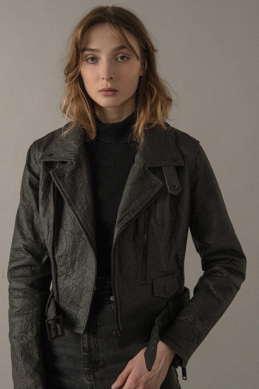 Altiir Women's Piñatex NeoClassic Biker Jacket Black