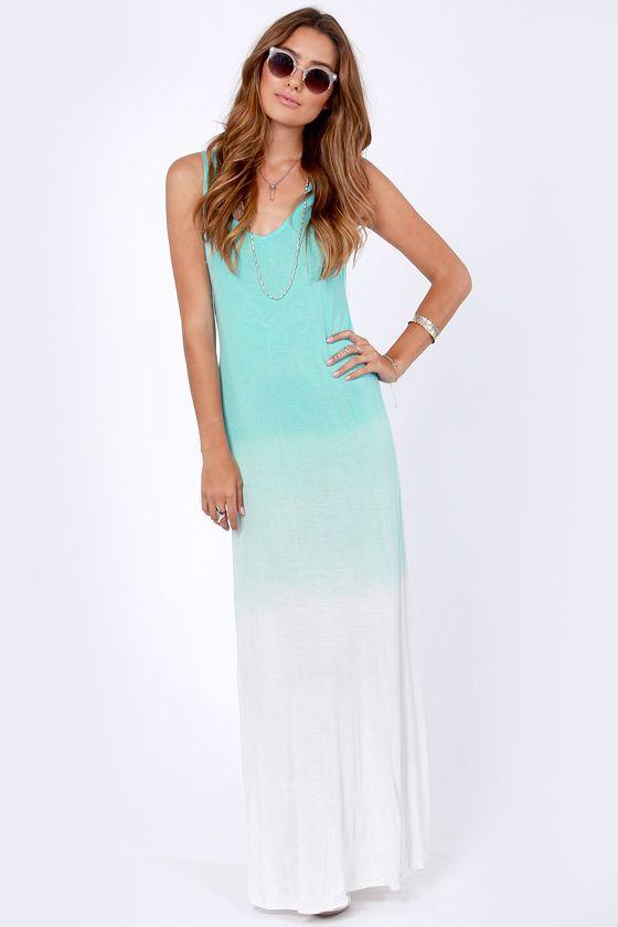 bfcf00f326c RVCA Dahomey Dress - Aqua Blue Dress - Maxi Dress -  42.00