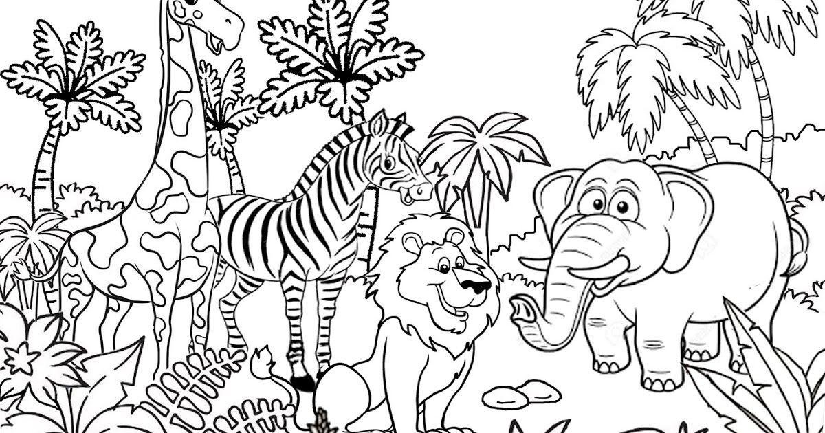 Baru 30 Gambar Haiwan Kartun Hitam Putih Di 2020 Dengan Gambar
