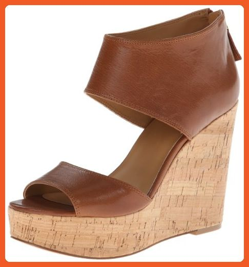 c0f8cec0df29d Nine West Women's Caswell Wedge Sandal,Light Brown Leather,10 M US ...
