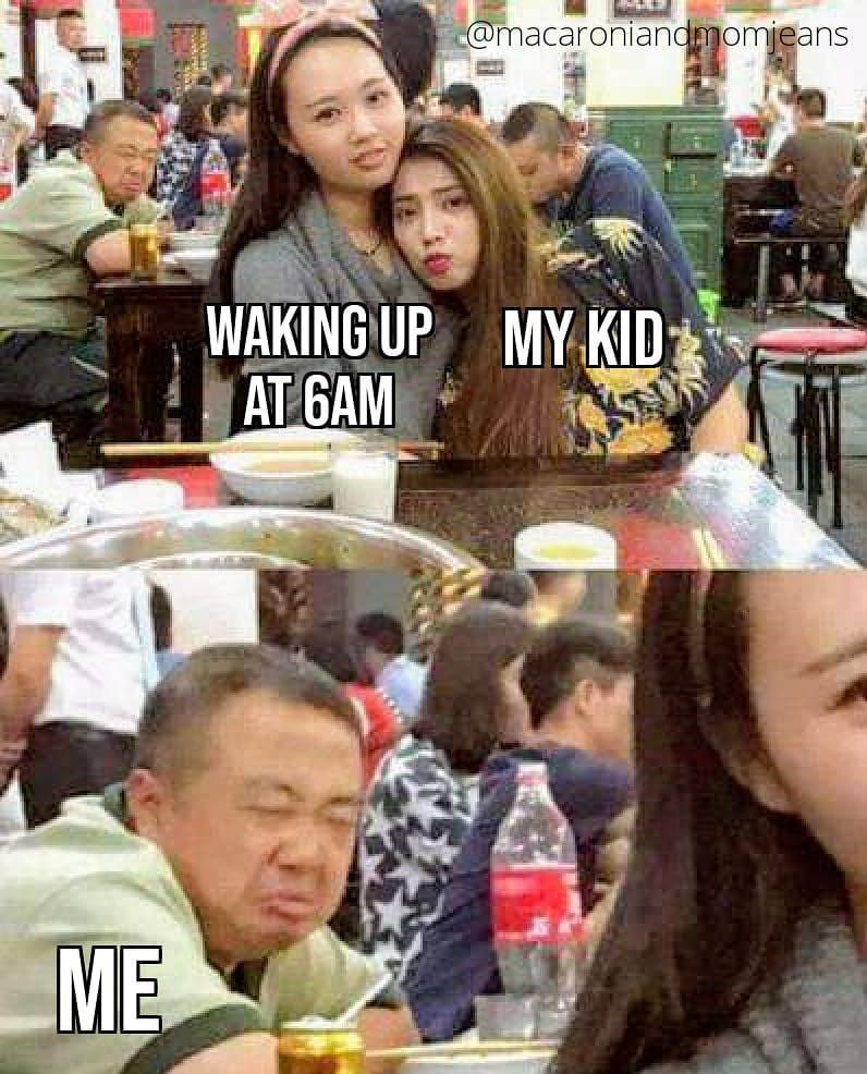 My kids love waking up at 6am on a weekend. I love waking