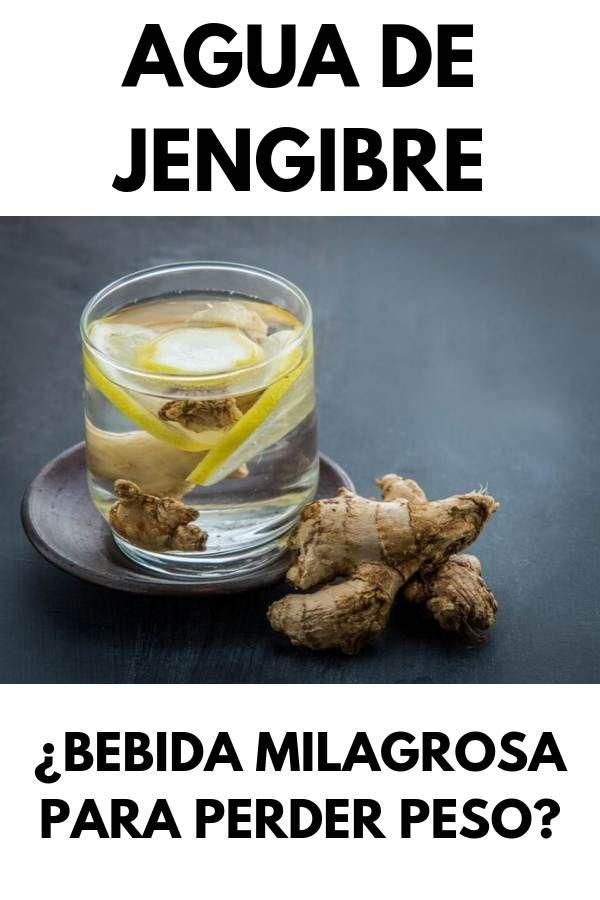 AGUA DE JENGIBRE: ¿Bebida milagrosa para perder pe
