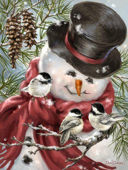Dona Gelsinger Printables Christmas Snowman