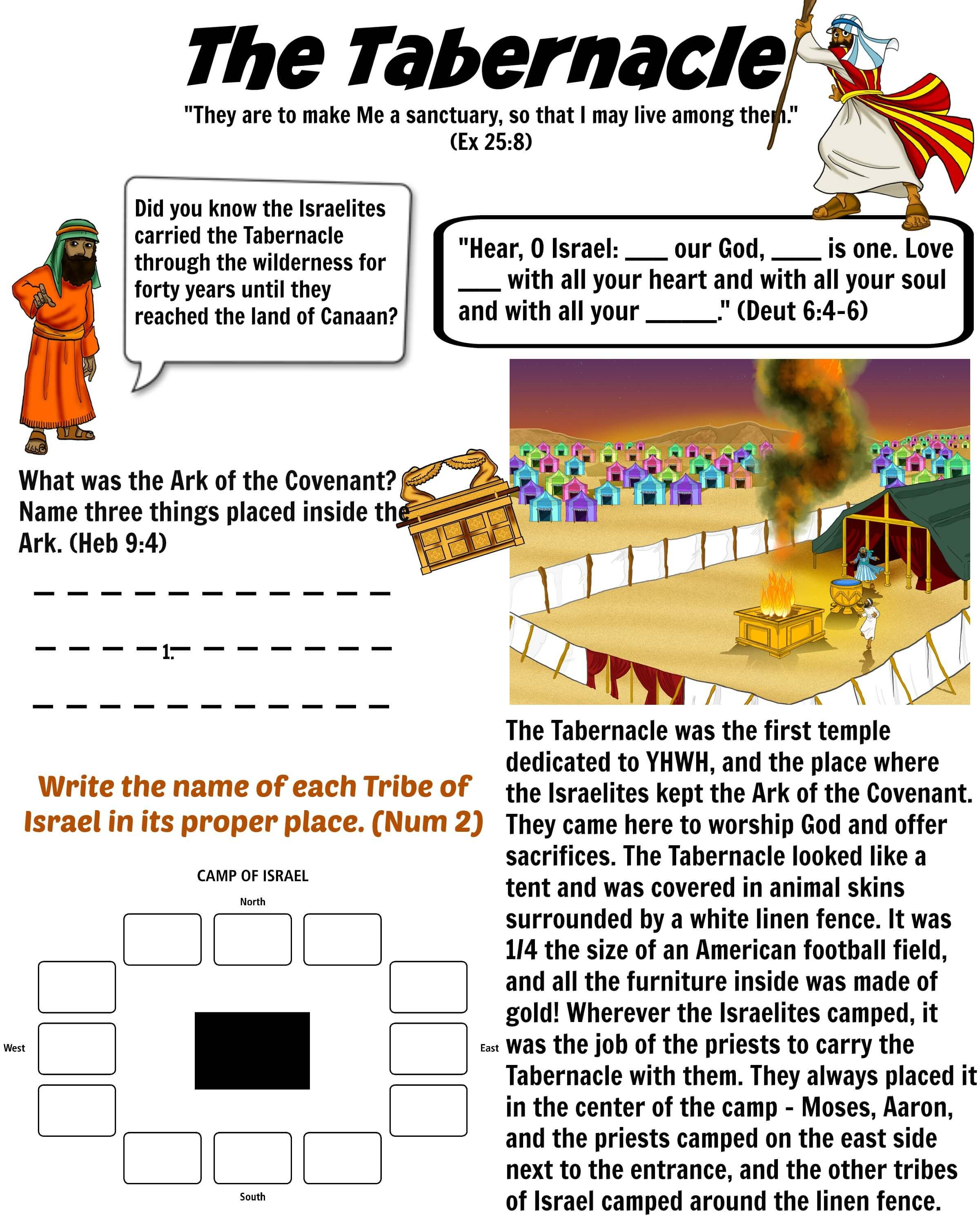 photo about Printable Diagram of the Tabernacle named Cost-free Bible Worksheet - The Tabernacle Moses The