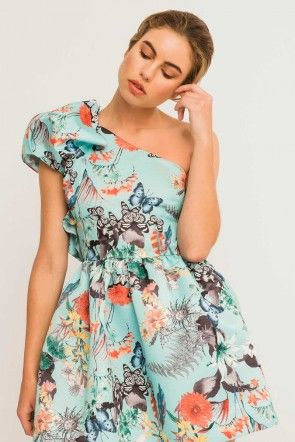 09e0b2a76 Comprar online vestido corto estampado para invitada de boda graduacion  eventos fiesta comunion