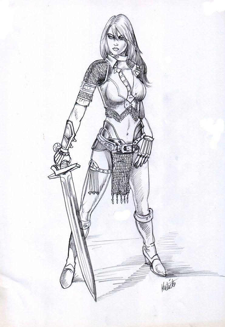 Warrior Girl 2 By Sedeslav D6t1dvc Jpg 741 1079 Warrior Girl Warrior Princess Princess Tattoo