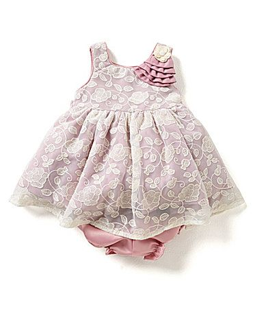 80786d736 Laura Ashley London Baby Girls Newborn24 Months Embroidered FloralLaceMesh  Overlay Dress #Dillards