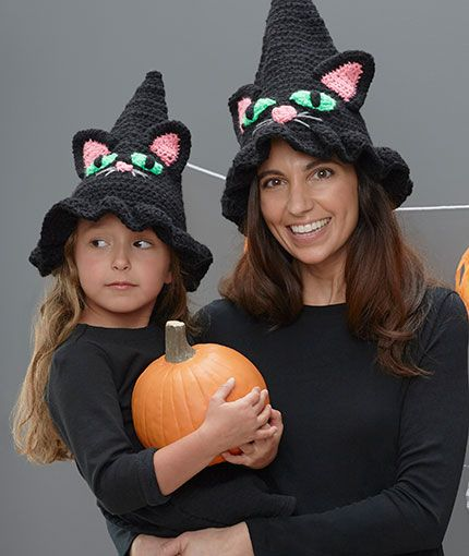 Witchy Cat Hat Free Crochet Pattern Lw5774 Halloween In 2018