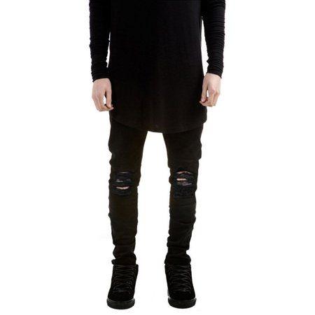 3d6305b30979 Comfortable Men Straight Slim Fit Biker Jeans Pants Denim Trousers Skinny  Cool with Durable Material Exquisite Design