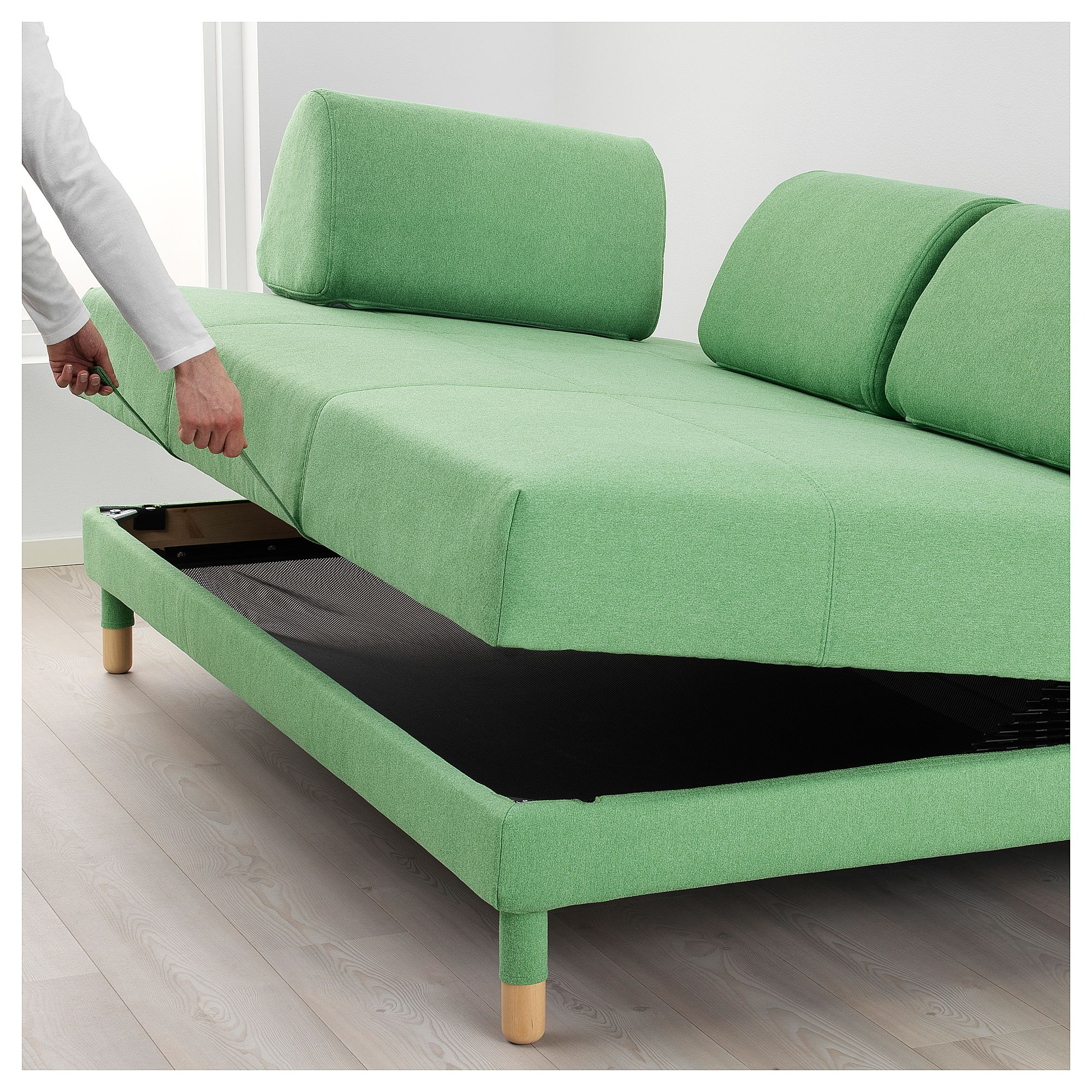 Flottebo Sofa Bed Lysed Green Bedrooms # Muebles Pikeando