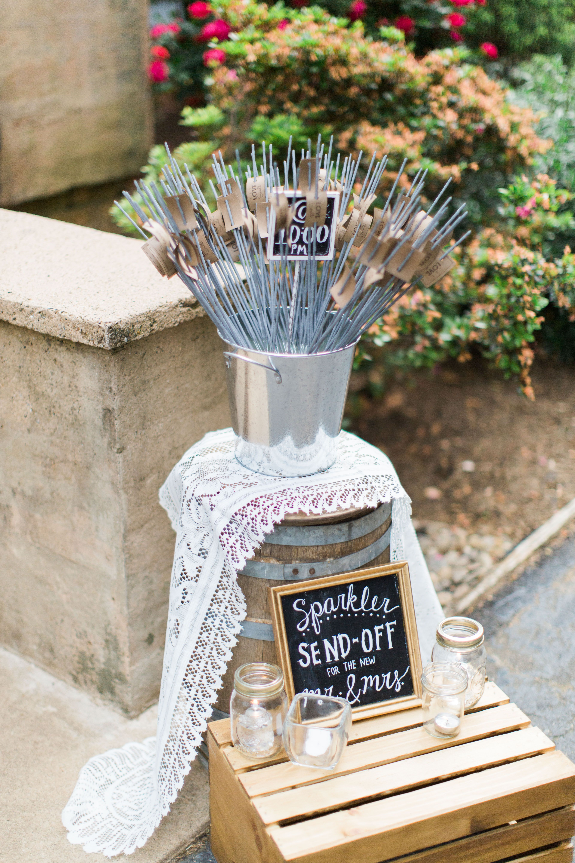 Wedding exit, ashless sparklers, Duncan Estate wedding www