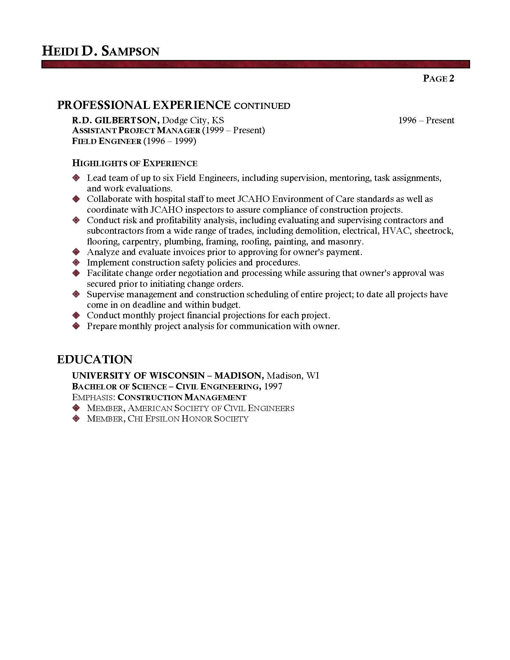 Facility Executive Resume Facilities Manager Professional Resume Sample Jobs
