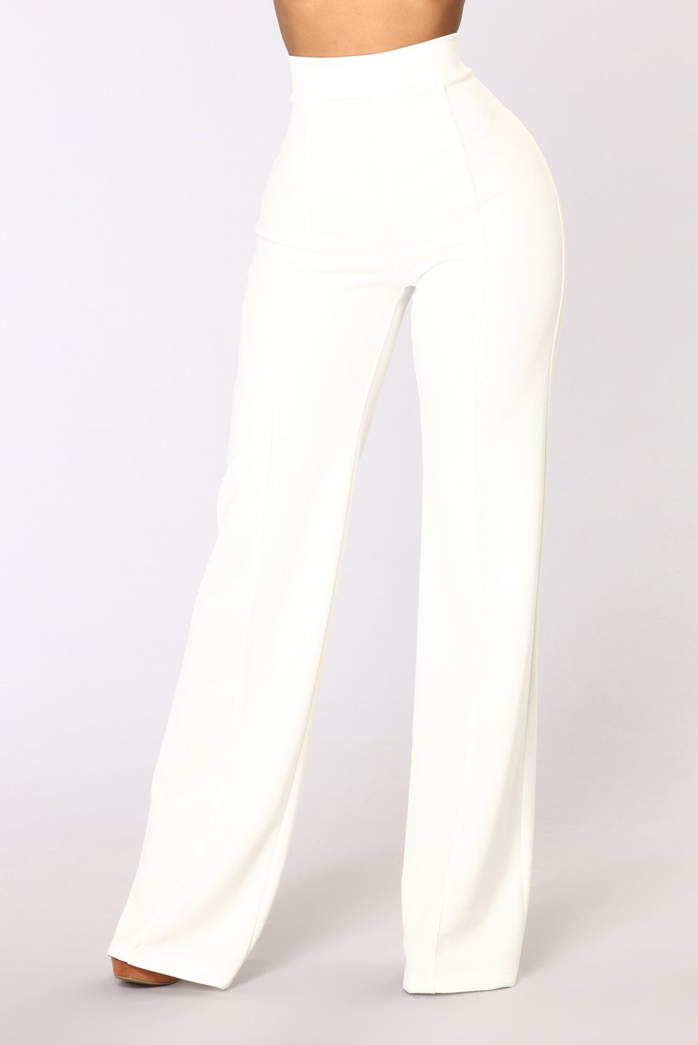 ae31606ee3 Victoria High Waisted Dress Pants - White in 2019 | Recruitment 2018 ...