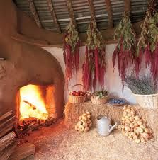 cob home fireplace