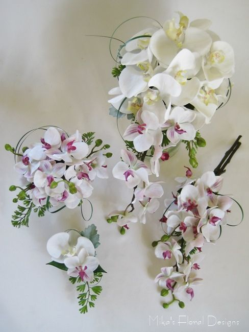 Artificial Mixed Phalaenopsis Orchids Wedding Flower Package