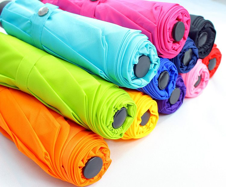 colorful promotion gift 3 folding umbrellar