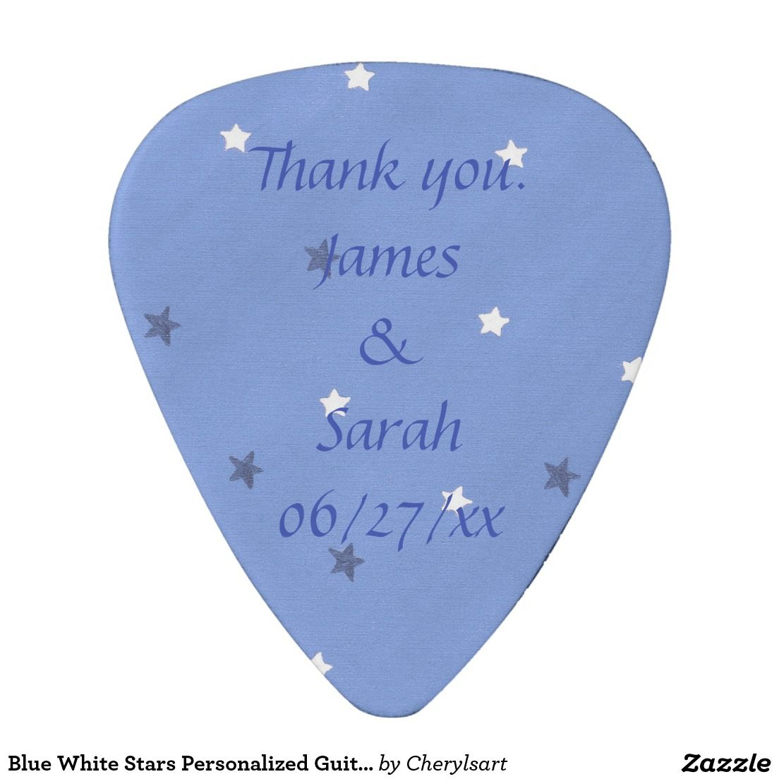 Blue White Stars Personalized Guitar Picks Favors Pinterest