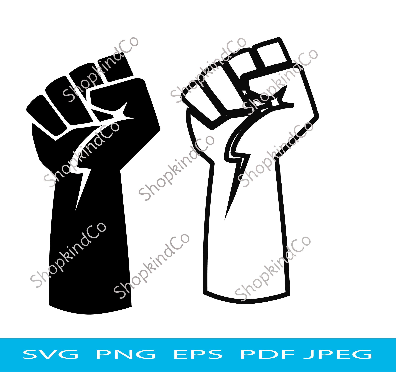 Black Power Raised FistBlack Lives Matter Pin Traveler BLM