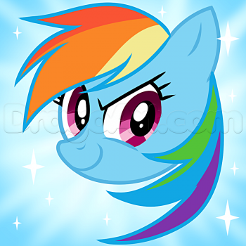 How To Draw Rainbow Dash Easy By Dawn With Images Drawings