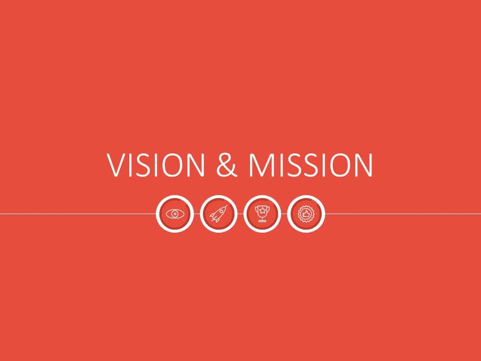 Powerpoint Template Vision  Mission Illustrations Flat At