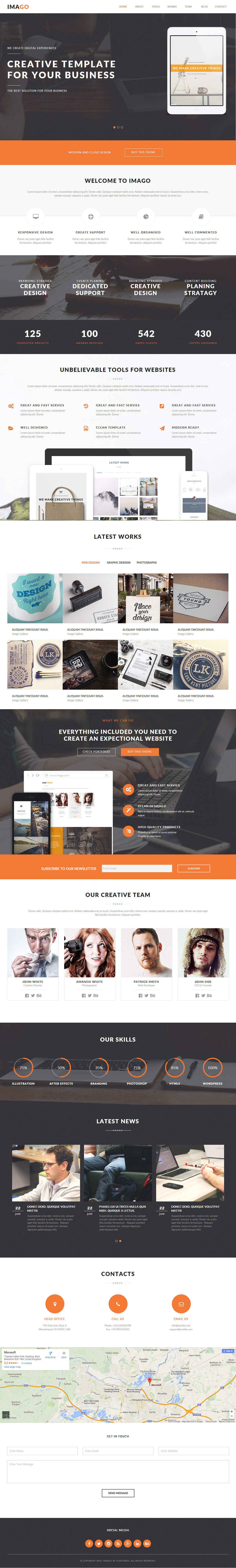 Imago - Premium Responsive Multipurpose Muse Template | Template and ...