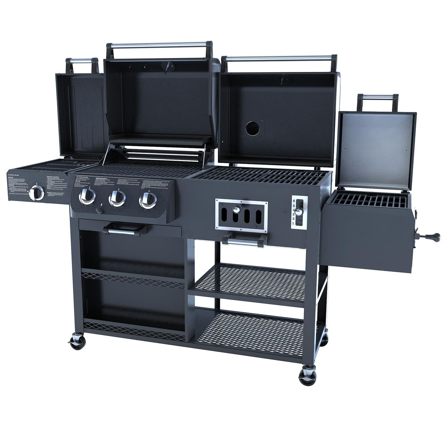 Smoke Hollow 4 In 1 Combo Gas Charcoal Grill Sam S Club