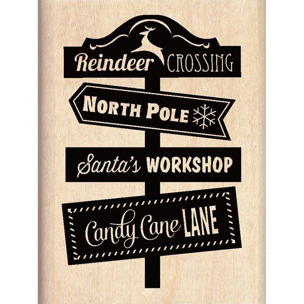 Inkadinkado Wood Mounted Rubber Stamp Reindeer Crossing