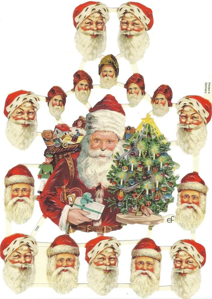 vintage santa printable