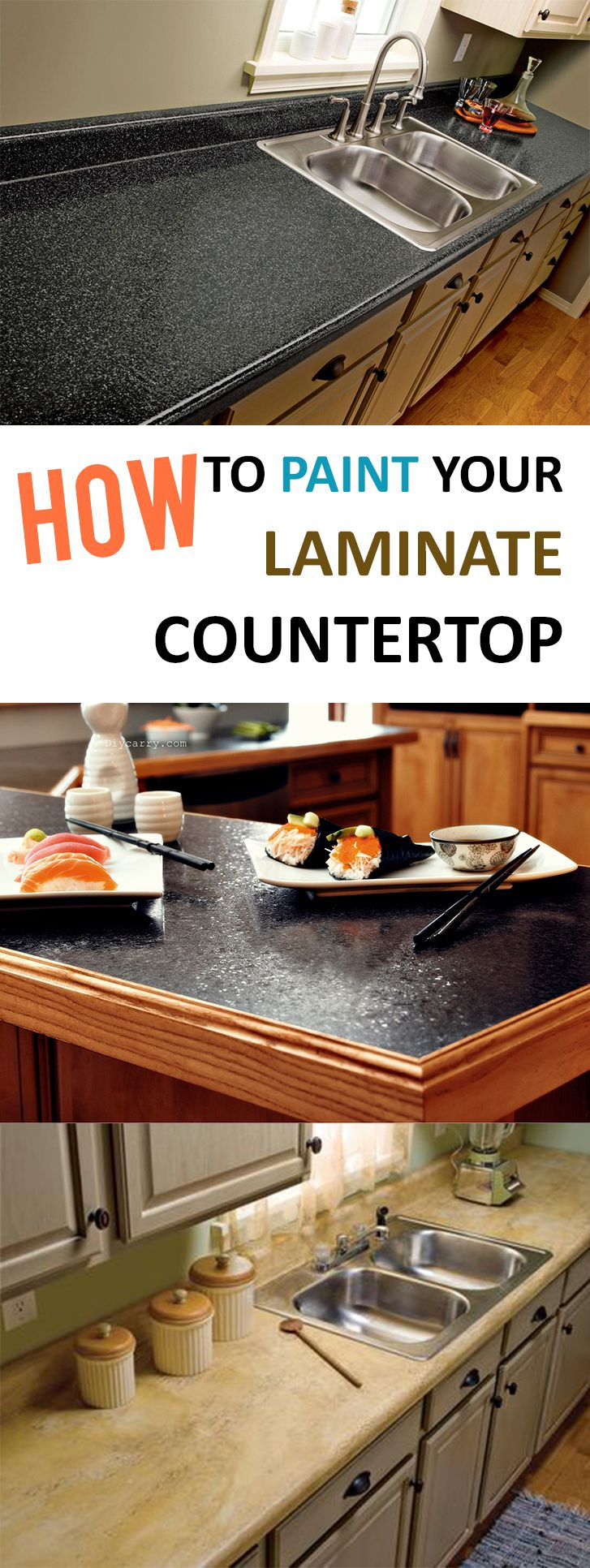 how to paint your laminate countertop | laminate countertop