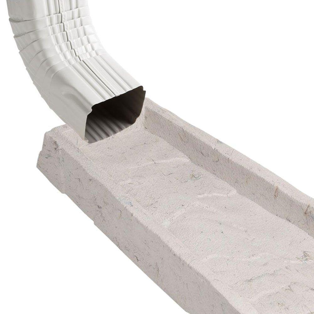 Amerimax 2 Pack Decorative Downspout Natural Stone Texture Splash Block Rain Gutter Drain Extender Stone Texture Decorative Downspouts Stone Veneer