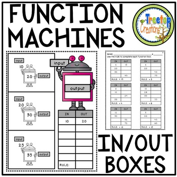 Function Machines In And Out Boxes Grades 4th 5th Function Tables Teacher Resources Multiplication