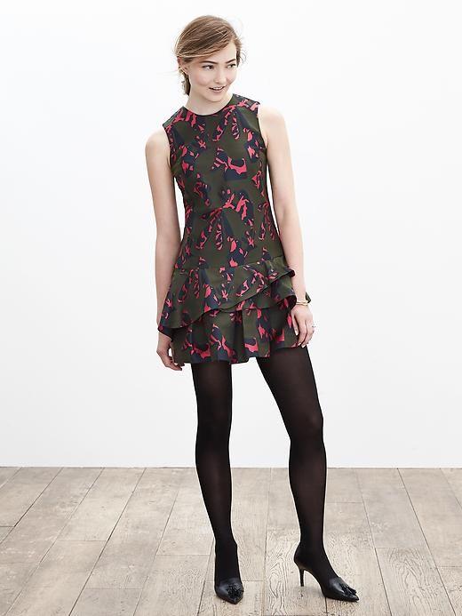 Pieced Jacquard Drop-Waist Dress | Fashion | Pinterest