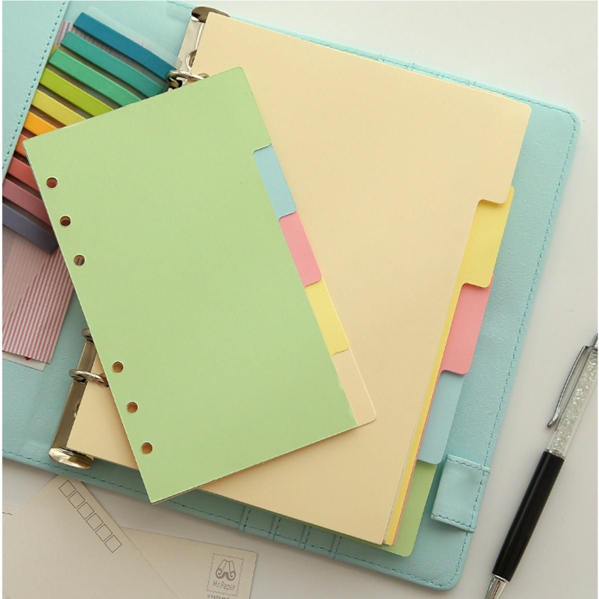 Pcs aa size index multicolored tabs divider insert refill